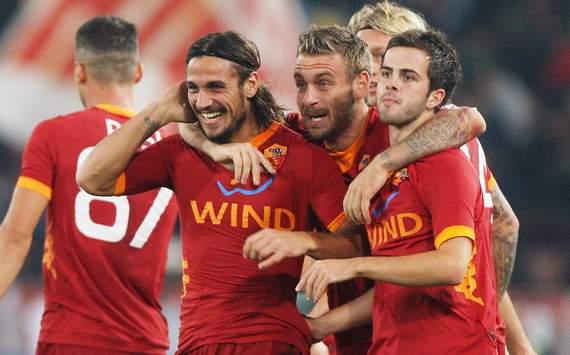 Osvaldo (R), De Rossi (R), Pjanic (R) - Lazio-Roma - Serie A (Getty Images)
