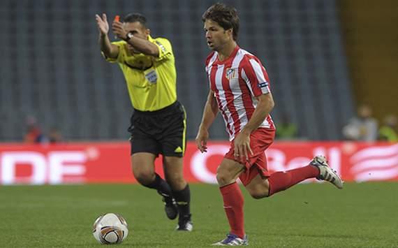 Diego Ribas en el Udinese-Atlético de Madrid de la Europa League