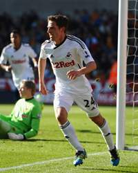 EPL - Wolverhampton Wanderers v Swansea City, Joe Allen
