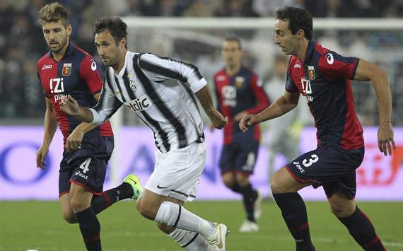 Vucinic-Dainelli-Veloso - Juventus-Genoa - Serie A (Getty Images)
