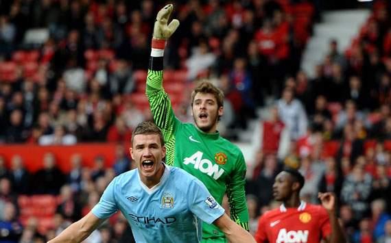 EPL,Edin Dzeko,Manchester United v Manchester City