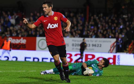 Carling Cup - Aldershot Town vs Manchester United,Michael Owen