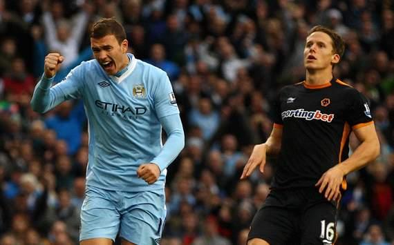 EPL: Edin Dzeko, Manchester City v Wolverhampton