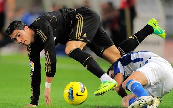 Liga BBVA: Real Sociedad-Real Madrid: Cristiano Ronaldo; Daniel Estrada