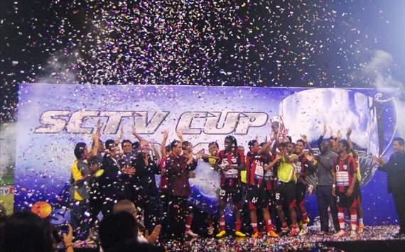 Persipura Jayapura juara Piala SCTV (GOAL.com/Arief Setiadi)