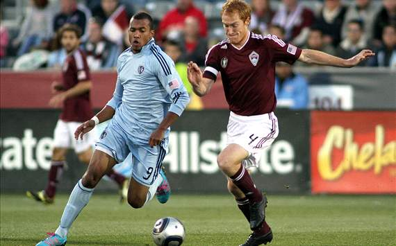 Teal Bunbury and Jeff Larentowicz - Colorado Rapids vs. Sporting KC