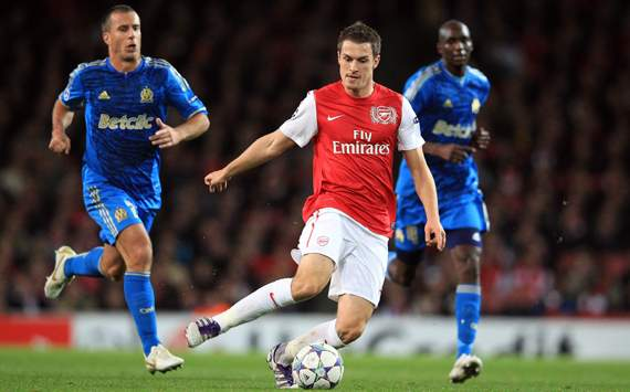 CL - Arsenal FC v Olympique de Marseille, Aaron Ramsey
