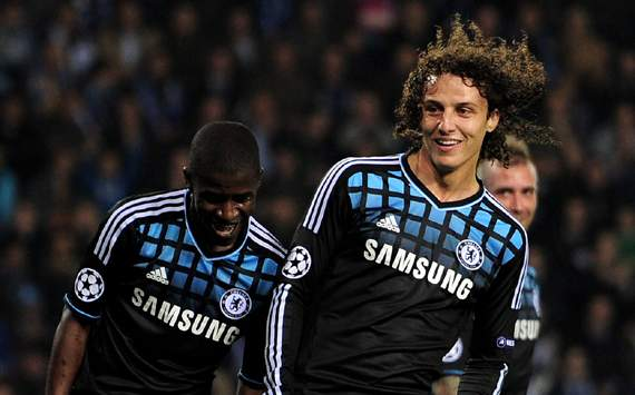 CL- KRC Genk v Chelsea FC, Ramires and David Luiz