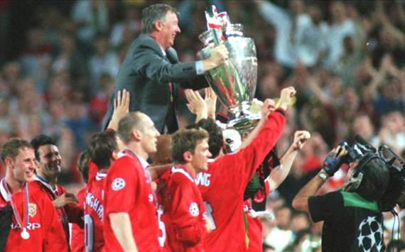 Manchester United Head Coach Sir Alex Ferguson, Uefa Champions league final 199