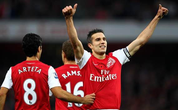 EPL - Arsenal vs West Bromwich, Robin van Persie