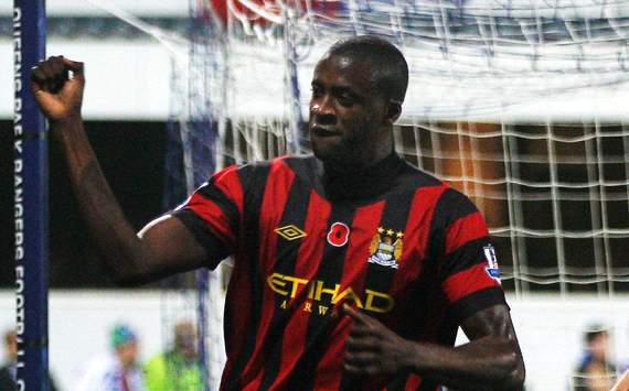EPL: Yaya Toure, Queens Park Rangers v Manchester City 