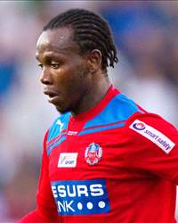 Helsingborgs' South African midfielder May Mahlangu 