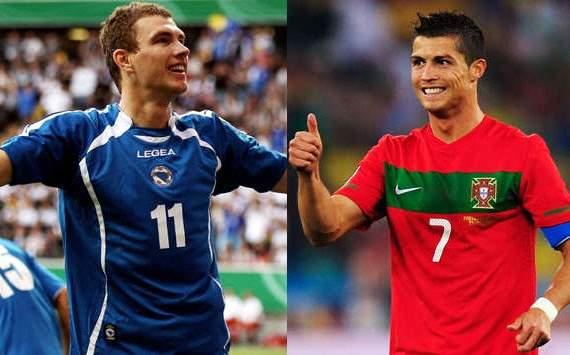 Edin Dzeko - Cristiano Ronaldo