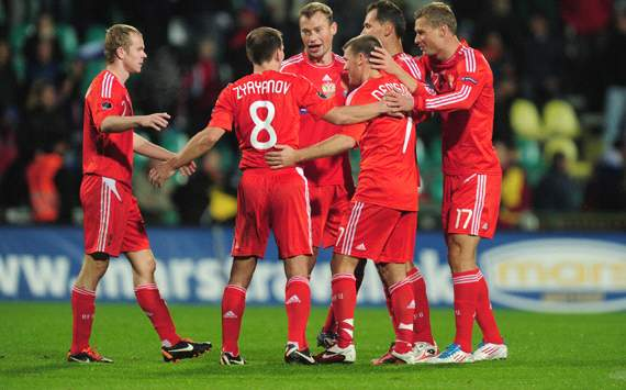 Russia celebrating (Getty Images)
