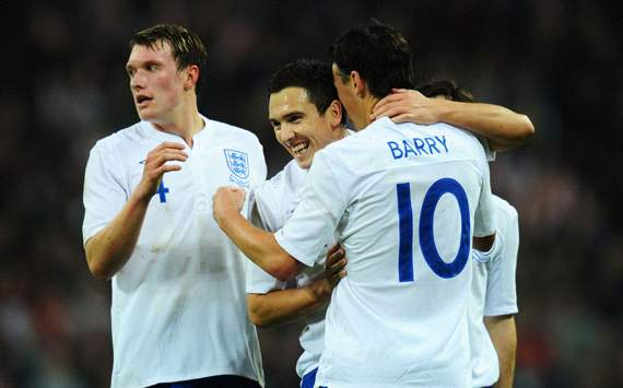 International Friendly : Gareth Barry, England v Sweden