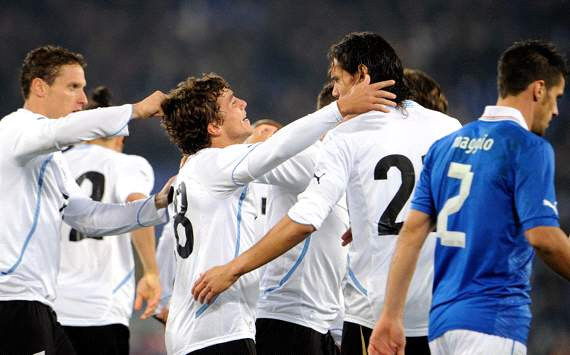Uruguay players celebrating against Italy (Getty Images)