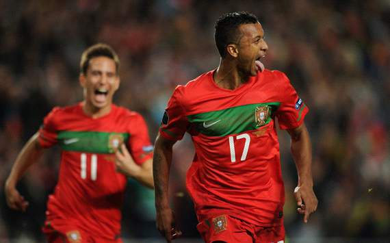 EURO 2012 Qualifier: Nani, Portugal v Bosnia