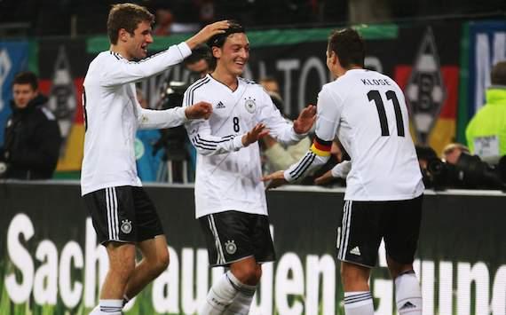 Germany: Thomas Müller, Mesut Özil, Miroslav Klose