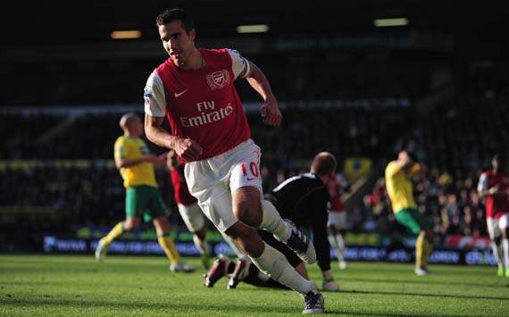 EPl,Robin Van Persie,Norwich City v Arsenal