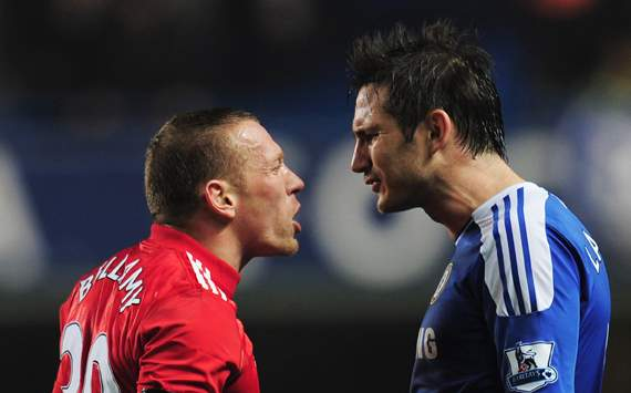 EPL - Chelsea v Liverpool, Craig Bellamy and Frank Lampard