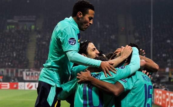 Barcelona celebrates - Milan-Barcelona - Champions League (Getty Images)