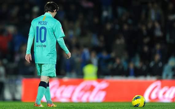 Liga BBVA: Getafe-Barcelona: Lionel Messi