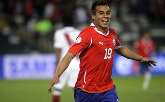 Chileno Eduardo Vargas lidera a goleadores de Copa América