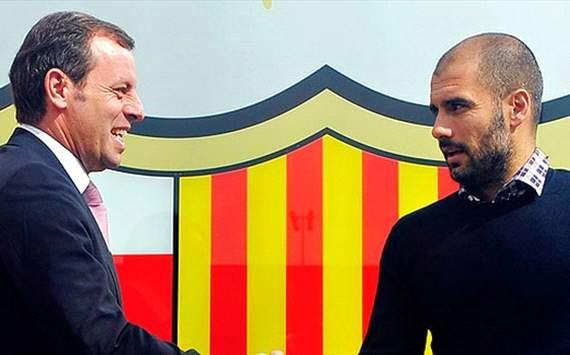 Sandro Rosell, Pep Guardiola - Barcelona