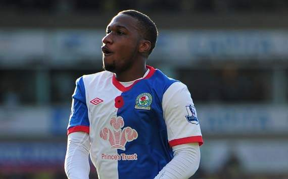 Junior Hoilett in action for Blackburn Rovers
