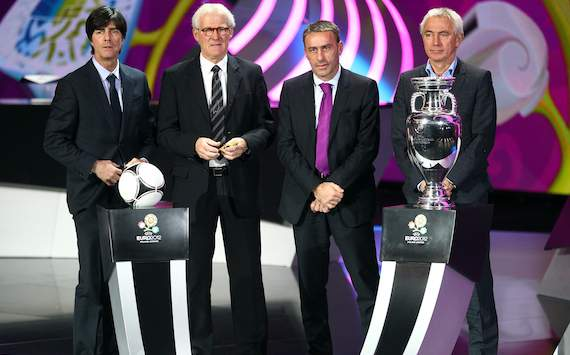 EURO 2012 Final Draw: Joachim Lw, Morten Olsen, Paulo Bento, Bert van Marwijk