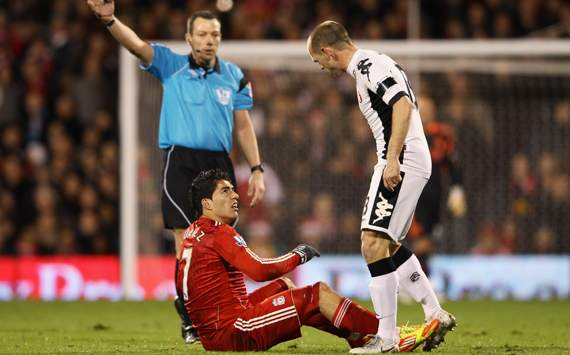 EPl - Fulham v Liverpool, Danny Murphy and Luis Suarez