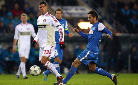 KRC Genk vs. Bayer 04 Leverkusen, Michael Balack & Fabien Camus
