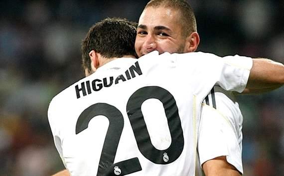 Gonzalo Higuain, Karim Benzema - Real Madrid