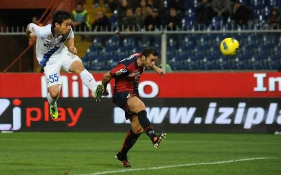 Nagatomo firma il goal-vittoria contro Mesto in Genoa-Inter (Serie A, Getty Images)