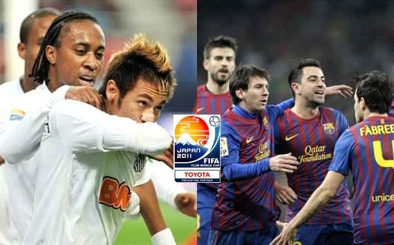 Santos X Barcelona - FIFA Club World Cup (Arte: Goal.com Brasil)