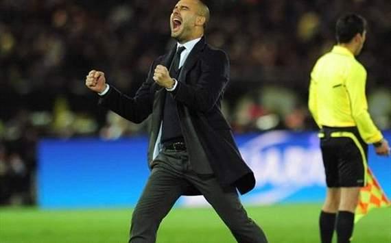 футбол.  Пеп прокомментировал победу Барселоны в финале Клубного ЧМ.