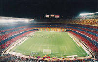 Barcelona fans - Camp Nou stadium
