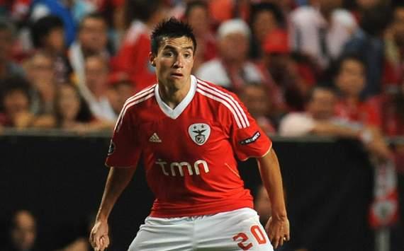 CL - SL Benfica v FC Twente, Nicolas Gaitan
