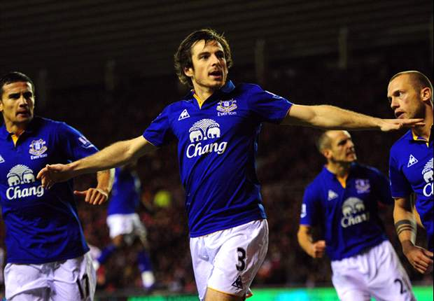 Everton full-back Baines coy over Manchester United talk