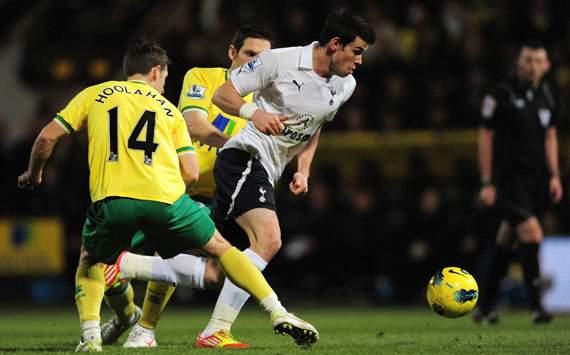 EPL: Gareth Bale - Wesley Hoolahan Norwich City v Tottenham
