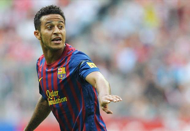 Barcelona's Thiago faces eight weeks out with a knee injury