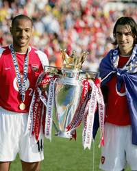 Thierry Henry  and Robert Pires of Arsenal