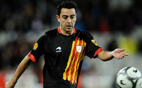 Xavi with Catalonia Team