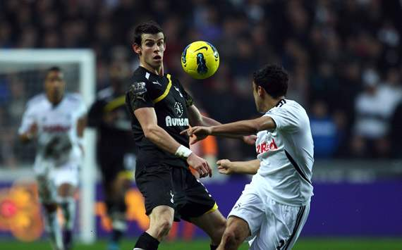 EPL - Swansea City v Tottenham Hotspur, Gareth Bale and Neil Taylor
