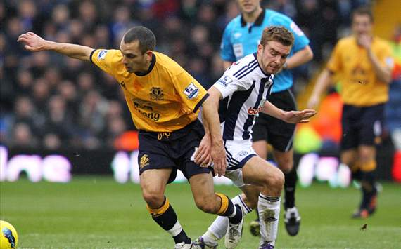 EPL - West Bromwich Albion v Everton, Leon Osman and James Morrison