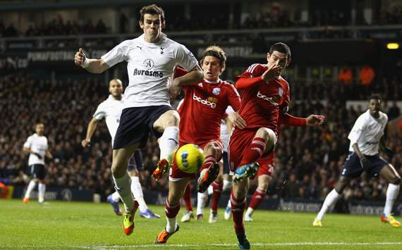 EPL - Tottenham Hotspur v West Bromwich Albion, Gareth Bale, Billy Jones and Graham Dorrans