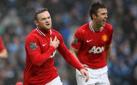 FA Cup - Manchester City vs Manchester United,Wayne Rooney and Michael Carrick