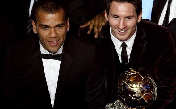 Messi and Daniel Alves, Ballon Dor 2011