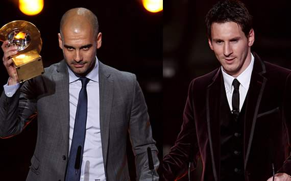FIFA Ballon d'Or Gala 2011: Guardiola, Messi mix