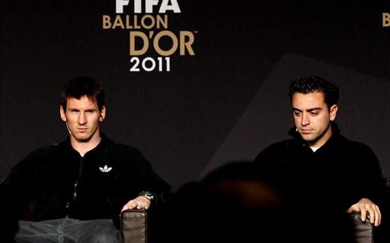 Messi , Xavi, Ballon D'or 2011